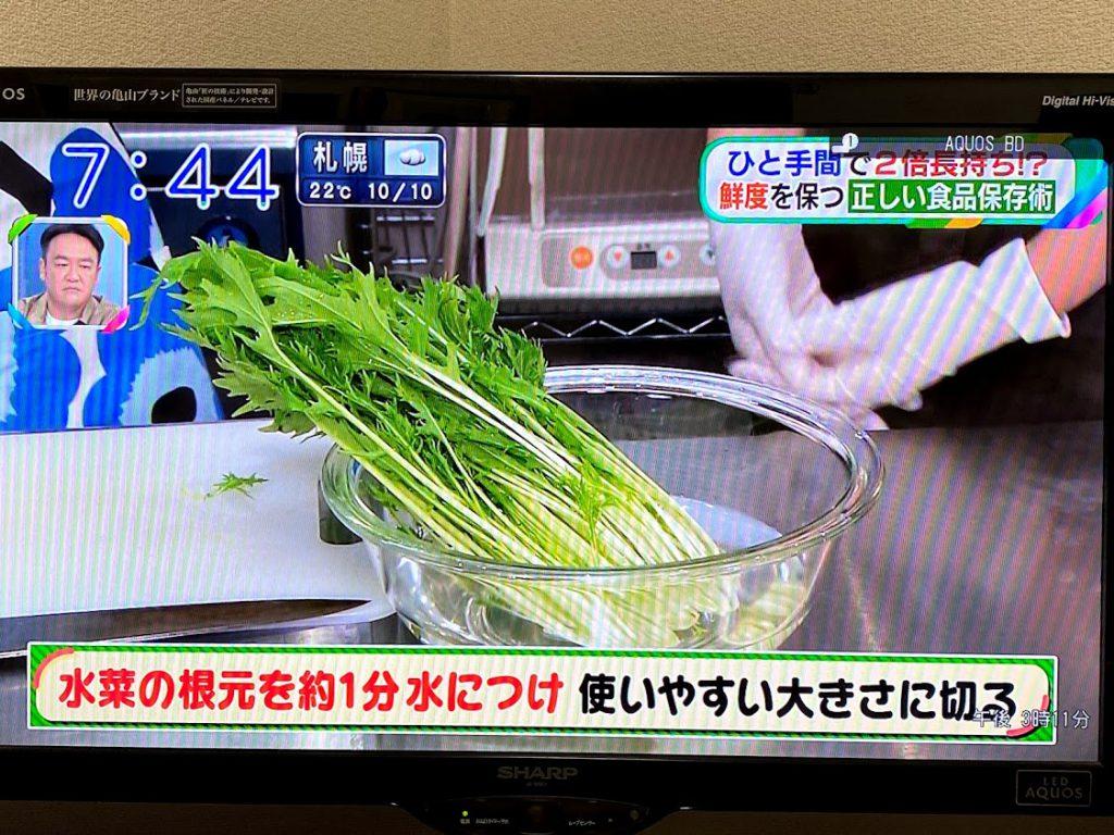 水菜の保存方法